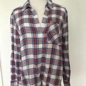 Tops - Girl kracy Lightweight flannel shirt